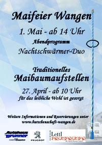 Maifeier 2013 in Wangen